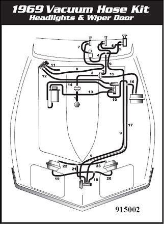 1969 corvette headlight wiper door vacuum hose kit 1969 corvette headlight wiper door vacuum hose kit