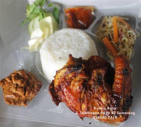 paket menu nasi box nasi kotak ayam bakar rempah
