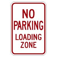 background zone loading parking lot signs and no parking reflective aluminum signs