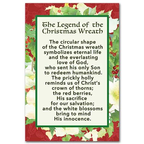 printable version of the legend of the christmas spider the legend of the christmas wreath christmas mini print