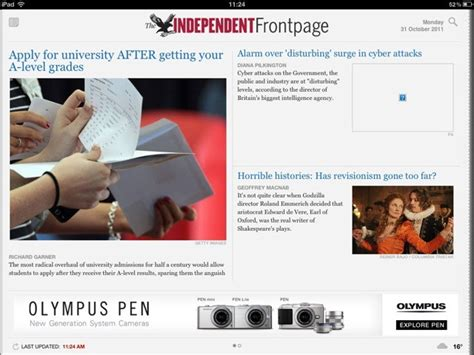 independent newspaper launches ipad app digital