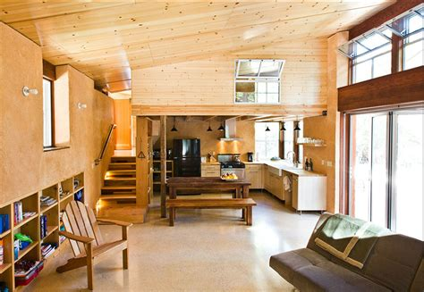 straw bale house interior hybrid straw bale home