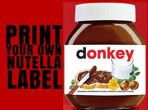 Printable Nutella Label | print your own nutella label croatia travel blog