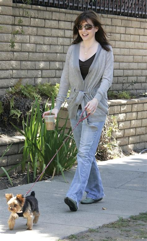 And Family Out For A Walk In Venice by Alyson Hannigan In Alyson Hannigan And Family Out For A