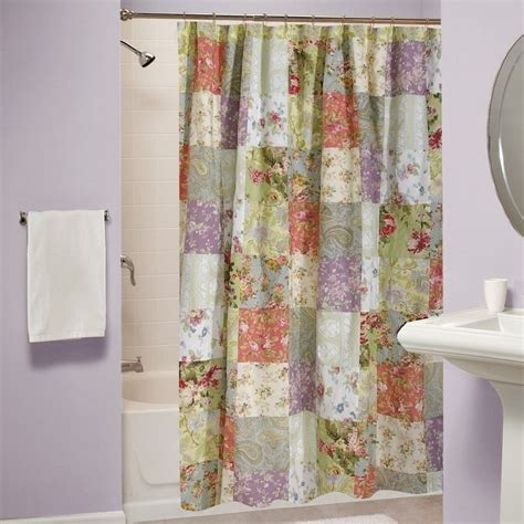 Country Bathroom Curtains Shower Curtain Bathroom Bath Fabric Cotton Greenland Patchwork Country Cottage Shower Curtains