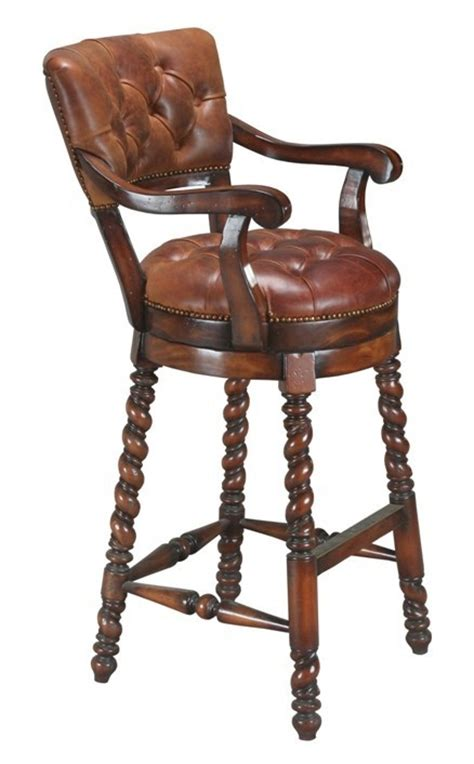 leather bar stools with arms accessories abroad swivel leather bar stool with arms