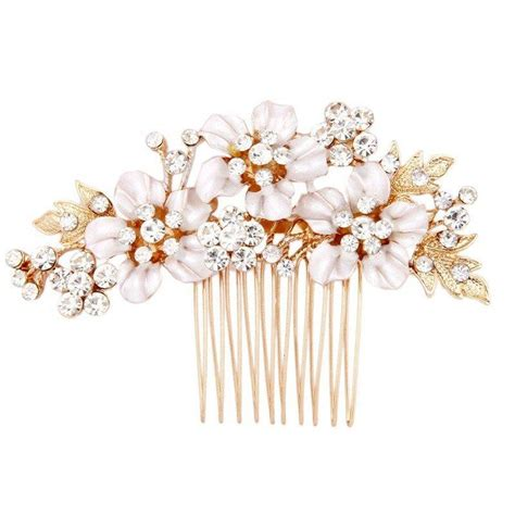 Wedding Flower Hair Comb gold flower bridal hair comb wedding hair accessories