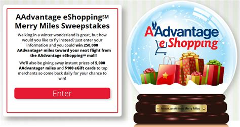Airline Miles Sweepstakes - win 250 000 miles in american airline s merry miles sweepstakes points miles martinis