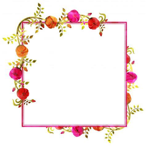 decorar un texto acuarela floral decorado hermosos cuadros con espacio