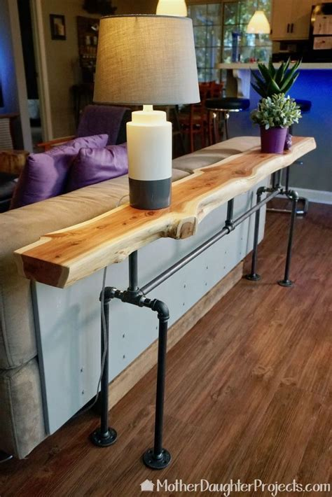 sofa table with pipe legs best 25 metal pipe ideas on shelves with