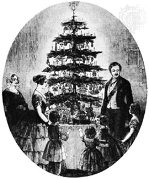 christmas tree queen victoria and family around christmas