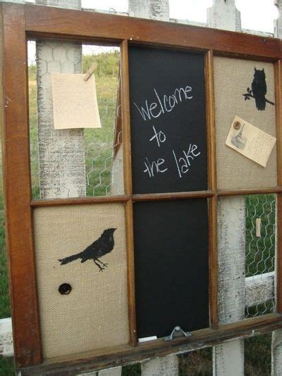 diy chalkboard message center 17 best images about window panes picture frames on