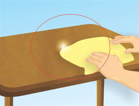 Clean Table by How To Get Beeswax A Counter Top Or Table Surface 5 Steps