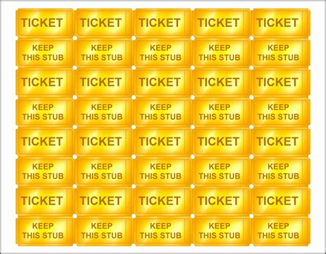 10 Editable Raffle Ticket Template Sletemplatess Sletemplatess Free Golden Ticket Template Editable