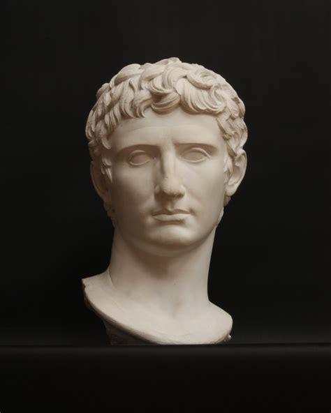 bust to bust augustus or augustus caesar fully gaius julius caesar
