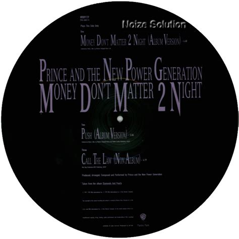 prince money don t matter 2 the picture disc gallery 187 archive 187 prince money