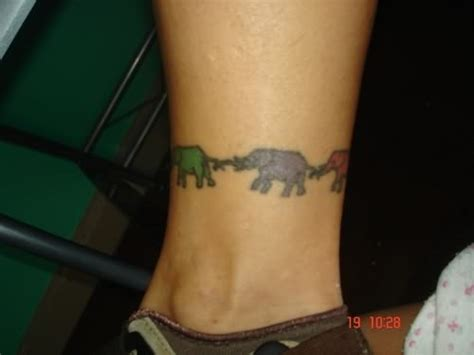 elephant ankle tattoo elephant on ankle
