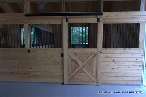4 Stall Horse Barn Build Out Barn Builder In North Ga Barn Stall Doors