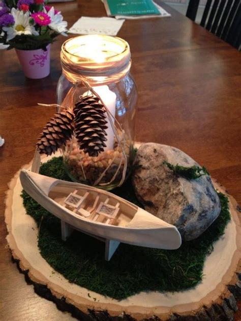 nature themes jar nature and scouting themed table centerpieces for eagle