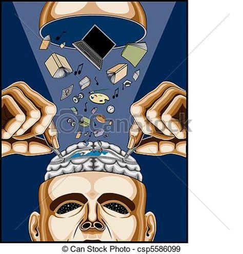 eps vectors of man feeding his zippered brain man