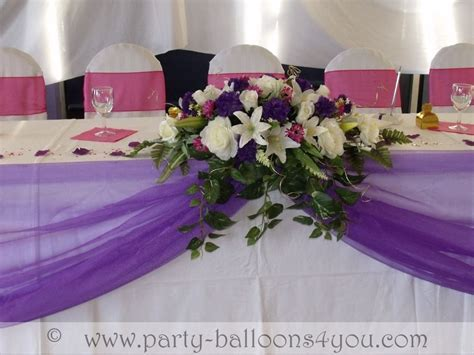 Purple Wedding Table Ideas   Wedding Balloons Fresh & Silk