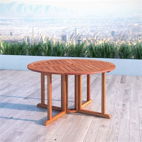 Drop Leaf Outdoor Table Drop Leaf Patio Dining Table In Cinnamon Brown Pex 369 T