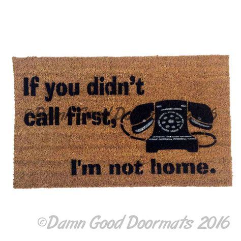 At Home Doormat Leave It On The Doorstep And Get The Hell Outta Here Rude
