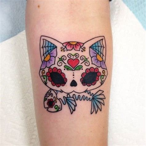 cat skull tattoo best 25 sugar skull cat ideas on