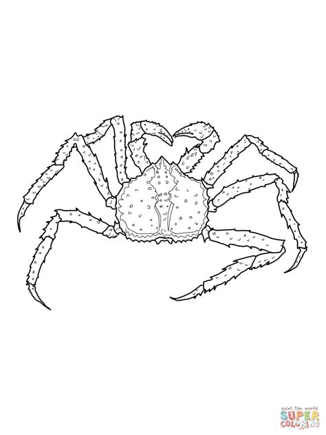 King Crab Coloring Page | king crab coloring page free printable coloring pages