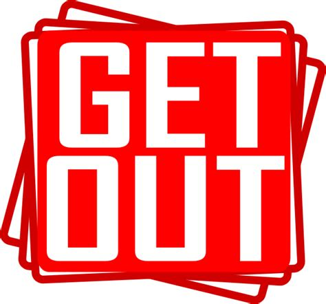get out get out clip at clker vector clip