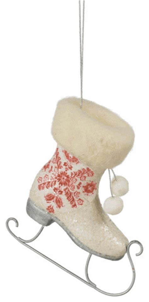 patterned ice skate christmas tree ornament traditional
