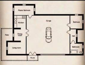 small home with a big garage floor plan