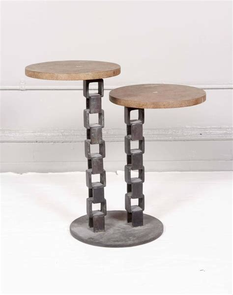 Link Festive Table Tops by Two Tier Shagreen Top Table On Chain Link Base For Sale At
