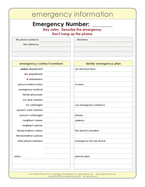 printable emergency numbers 11 best nanny binder images on pinterest home management