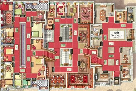 how many rooms in cluedo enter the world of the crawleys with new downton board daily mail
