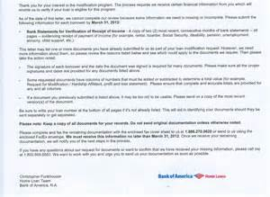 Hamp Certification Letter bank of america home retention program is wacked granddollar