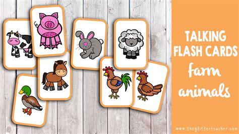 cuna ingles farm animals talking flashcards tarjetas de vocabulario