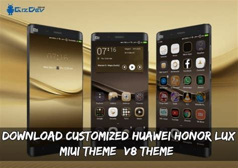 theme miui for huawei download customized huawei honor lux miui theme v8 theme