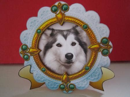lada decoupage siberian husky puppy portrait card topper decoupage
