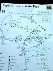 Custer State Park Map by Map Of Custer State Park Picture Of Custer State Park