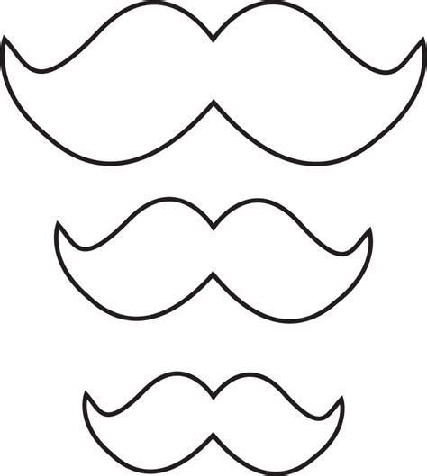 large mustache template template mustache template