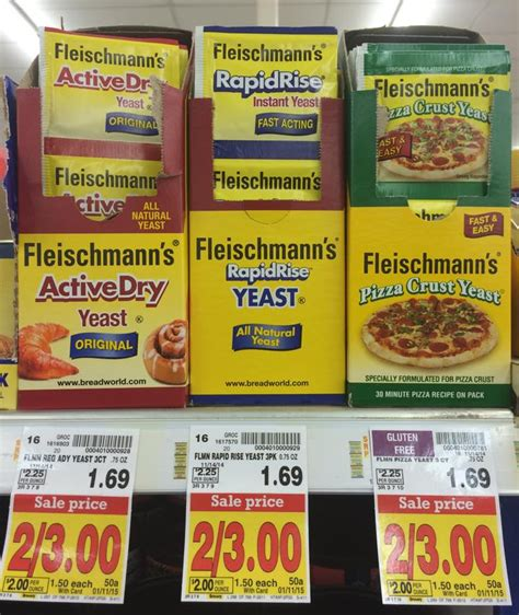 sle of yeast fleischmann s yeast 1 10 for a 3 pack at kroger