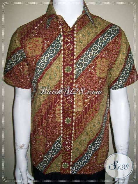 Batik Modis Keren Murah jual busana batik pria baju batik lengan pendek dengan