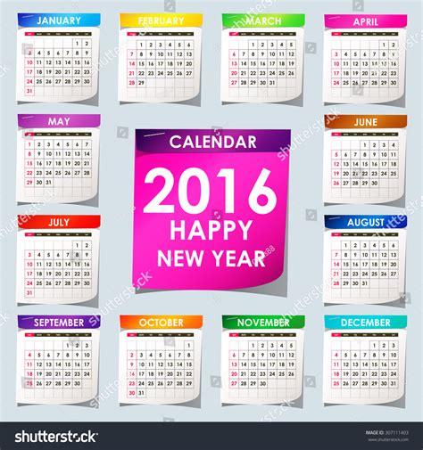 english calendar 2016 design stock vector image 61777684 simple 2016 calendar 2016 calendar design stock vector