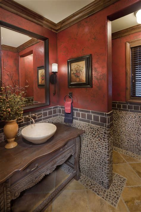 great ideas  decorate  powder room  wow style