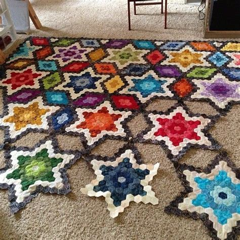 quilt pattern hexagon 699 best hexies images on pinterest hexagons hexagon