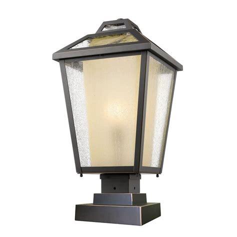 landscape lighting accessories filament design arnett 1 light rubbed bronze outdoor pier mount cli jb047943 the home depot