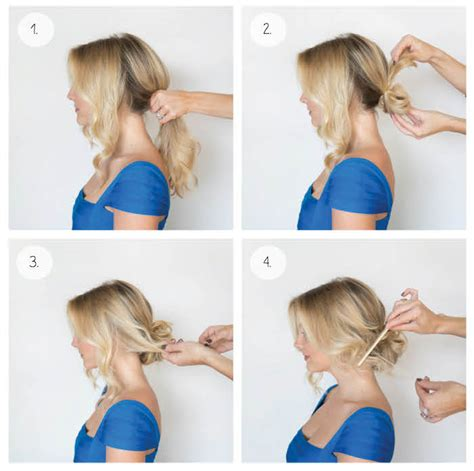 easy sleek updos step by step holiday updo hairstyles step by step easy holiday updo