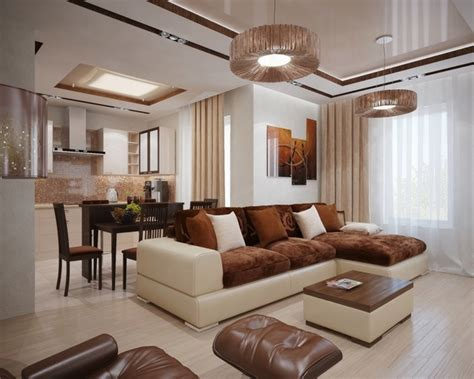 Decor Ideas For Living Room With Brown Leather Furniture - living room design ideas in brown and beige 50 fabulous