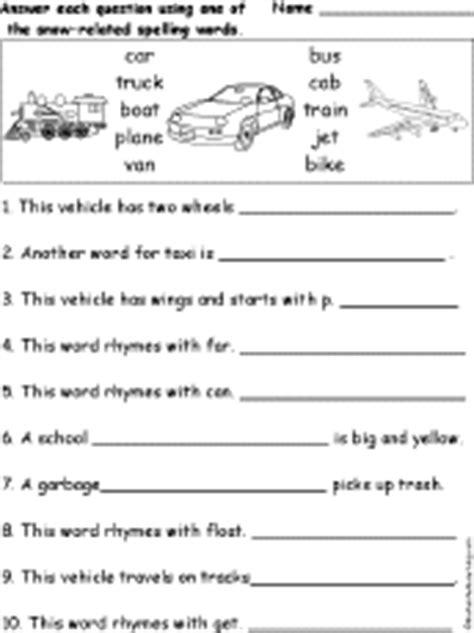 boat in spanish spelling spelling worksheets transportation vehicles at